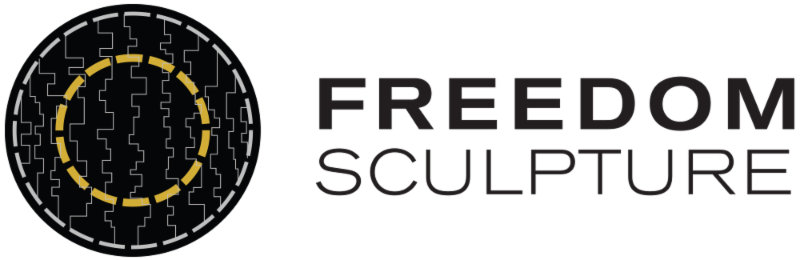 Freedom Sculpture logo Horizontal